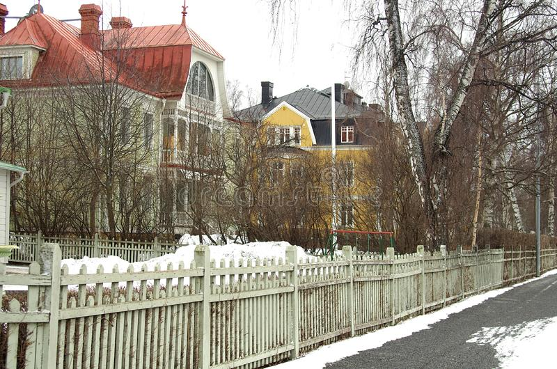 La ville de Ã-stersund dans Sweden-02 03 2019 image stock