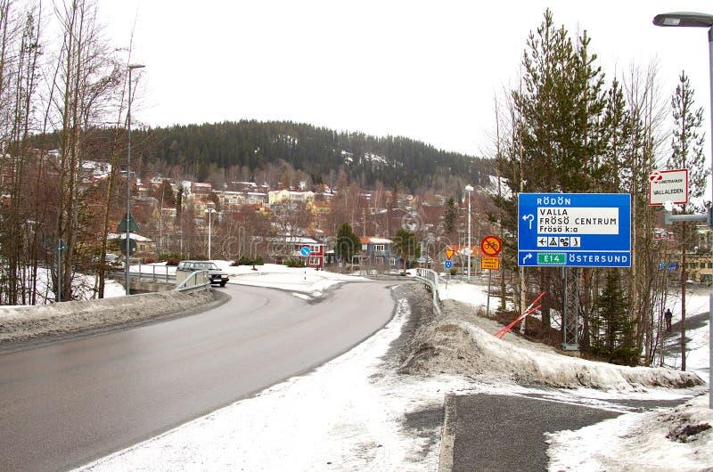La ville de Ã-stersund dans Sweden-02 03 2019 photographie stock libre de droits