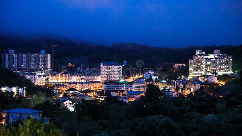 La ville de Brinchang est centre du tourisme en Cameron Highlands, Malaisie photographie stock