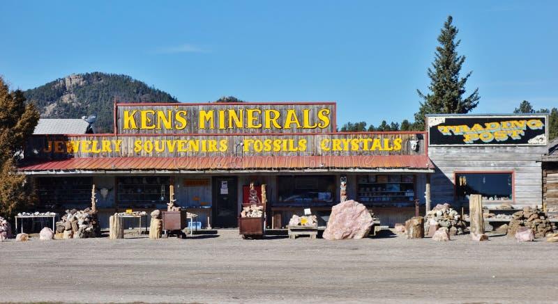 La ville de fièvre de l'or de Custer dans le Black Hills du Dakota du Sud photos libres de droits
