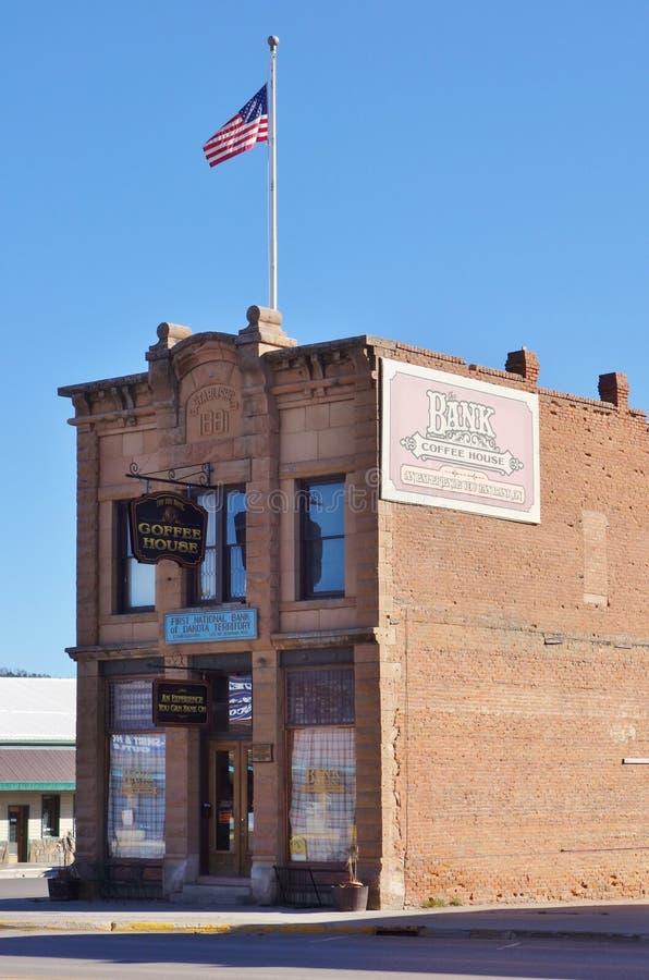 La ville de fièvre de l'or de Custer dans le Black Hills du Dakota du Sud image stock