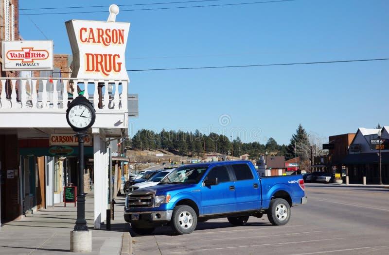 La ville de fièvre de l'or de Custer dans le Black Hills du Dakota du Sud photographie stock