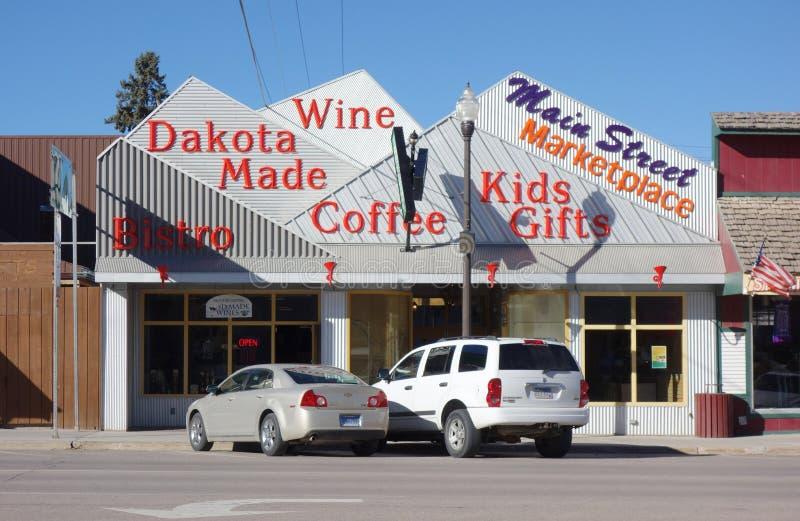 La ville de fièvre de l'or de Custer dans le Black Hills du Dakota du Sud image libre de droits