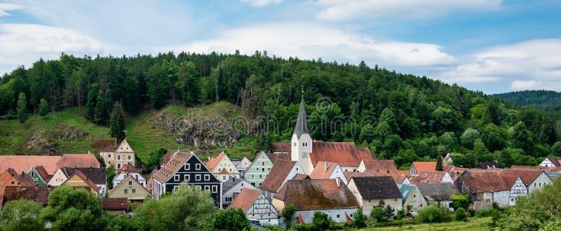 La ville de Hohenburg, Palatinat supérieur en Bavière, Allemagne photo stock