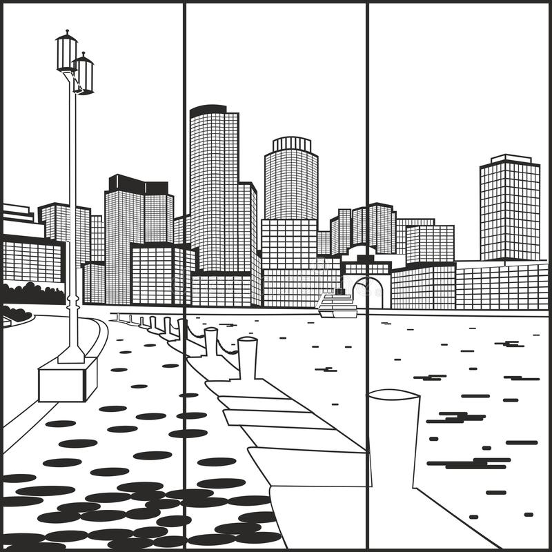 La ville de l'eau photographie stock libre de droits