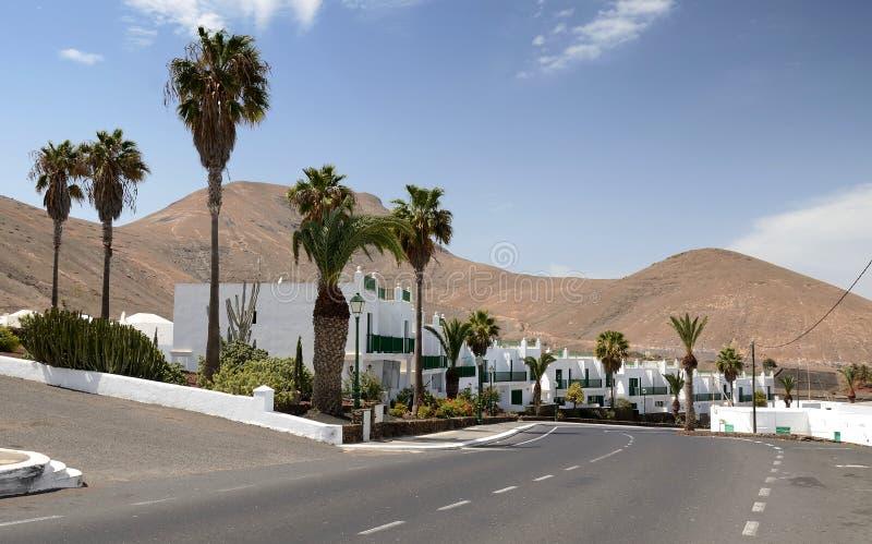 La ville de Lanzarote image libre de droits