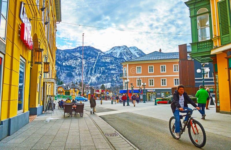 La ville de mauvais Ischl, Autriche images stock