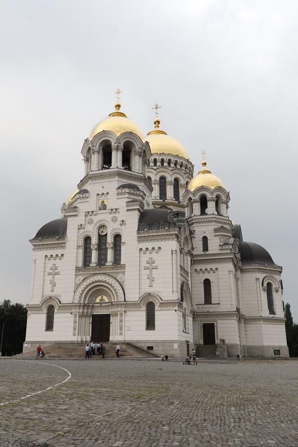 La ville de Novocherkask La Russie Cathédrale militaire de résurrection photographie stock libre de droits