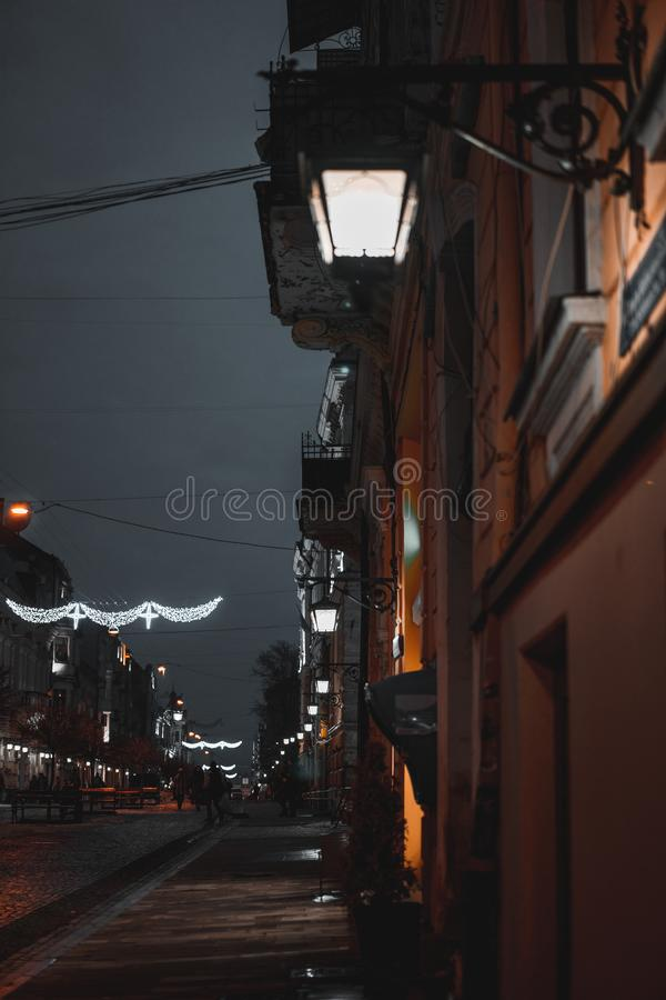 La ville de nuit photos stock