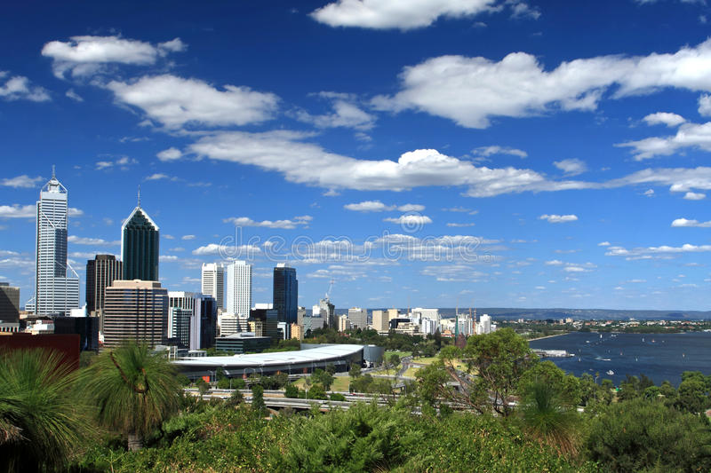 La ville de Perth, Australie occidentale images libres de droits