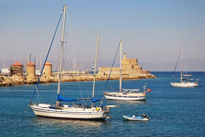 La ville de Rhodes image stock