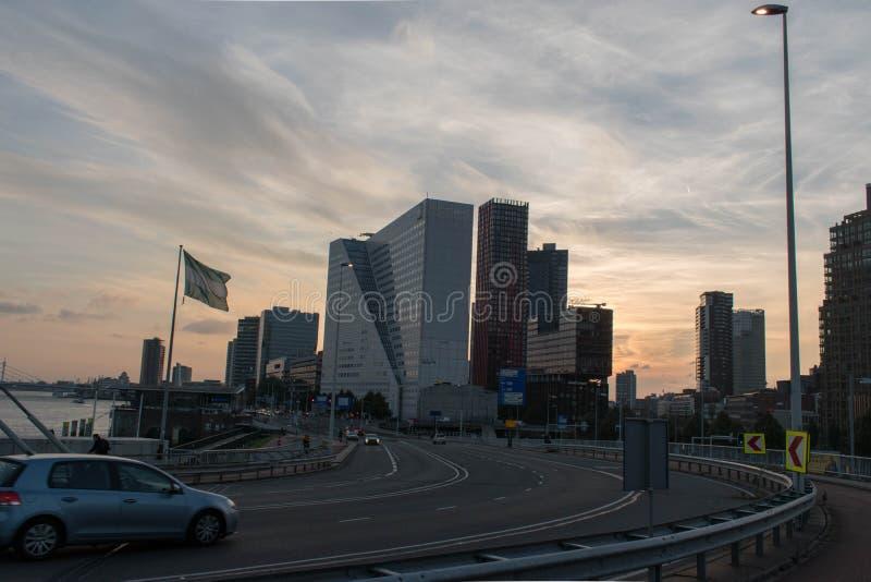 La ville de Rotterdam images stock