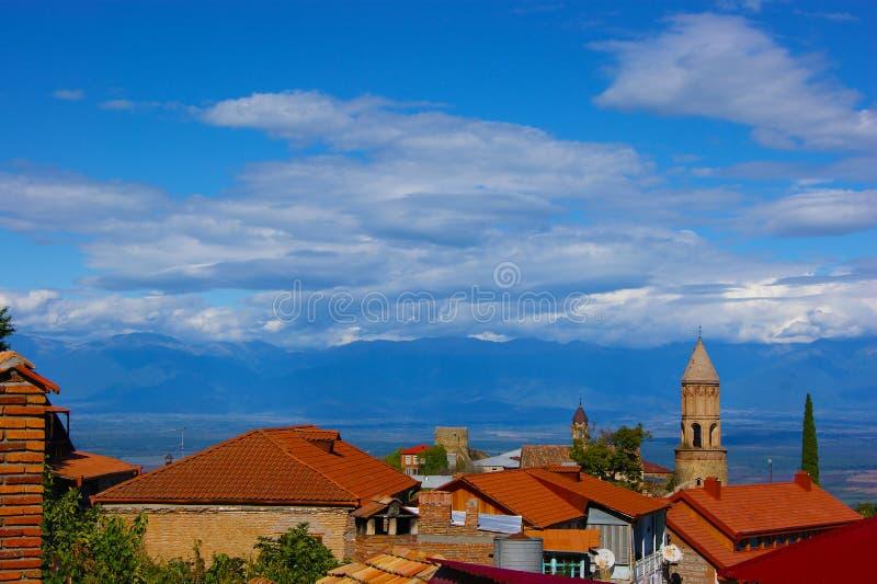 La ville de Sighnaghi, la Géorgie photo libre de droits