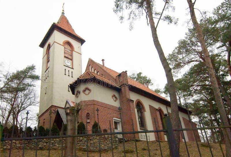 La ville de Svetlogorsk jusqu'en 1946 la ville de Raushen Église Saint-Seraphim De Sarov photos stock