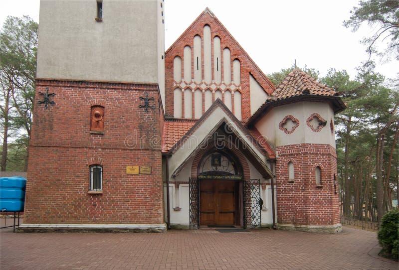 La ville de Svetlogorsk jusqu'en 1946 la ville de Raushen Entrée du temple de Seraphim de Sarov photographie stock libre de droits