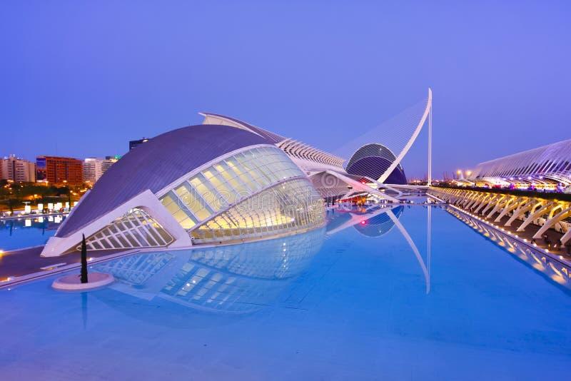La ville de Valence des arts et du musée de la Science photos libres de droits