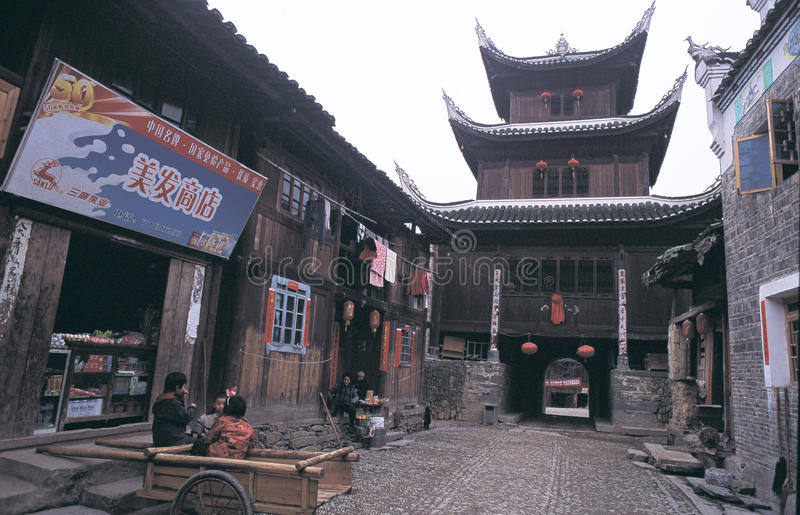 Ville antique de zhenyuan image libre de droits