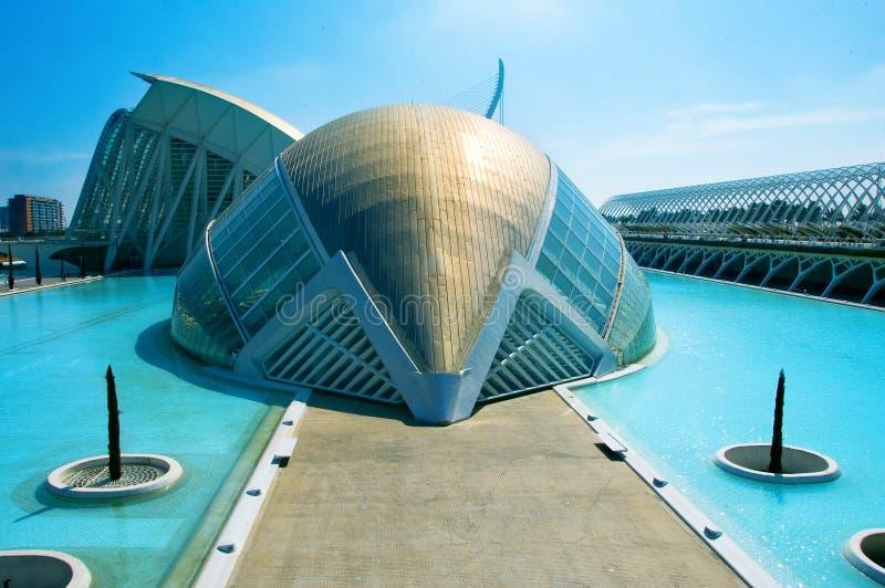 La ville des arts et des sciences de Valence image libre de droits
