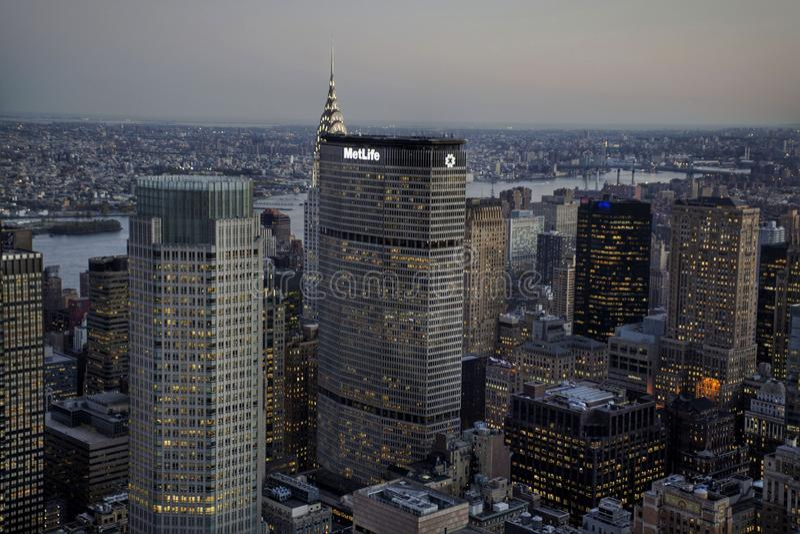 La ville des gratte-ciel images libres de droits