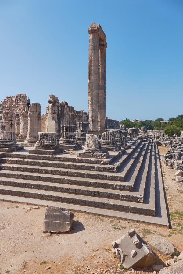 La ville du grec ancien de Didyma images stock
