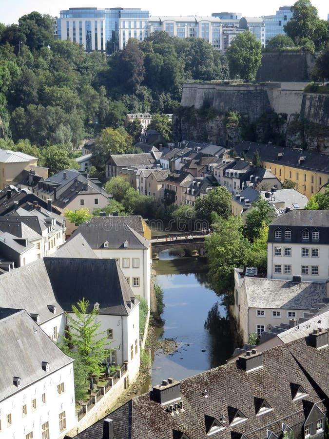 La ville du Luxembourg, le Grund image stock