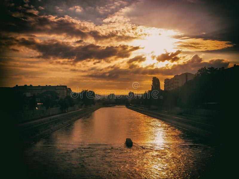 La ville du NIS photos stock