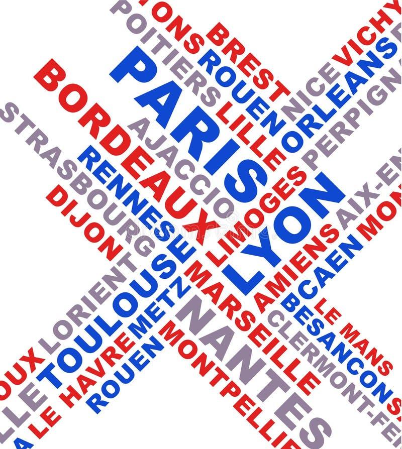 La ville française nomme le collage illustration libre de droits