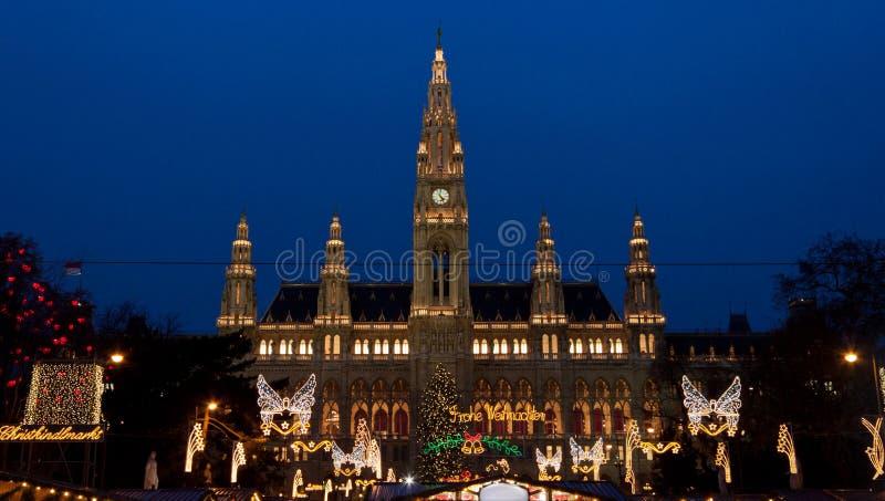 La ville hôtel (Rathaus) de Vienne photos libres de droits