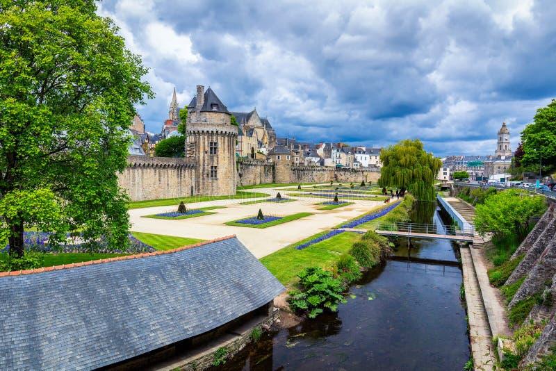 La ville historique de Vannes en Brittany Bretagne, France images libres de droits