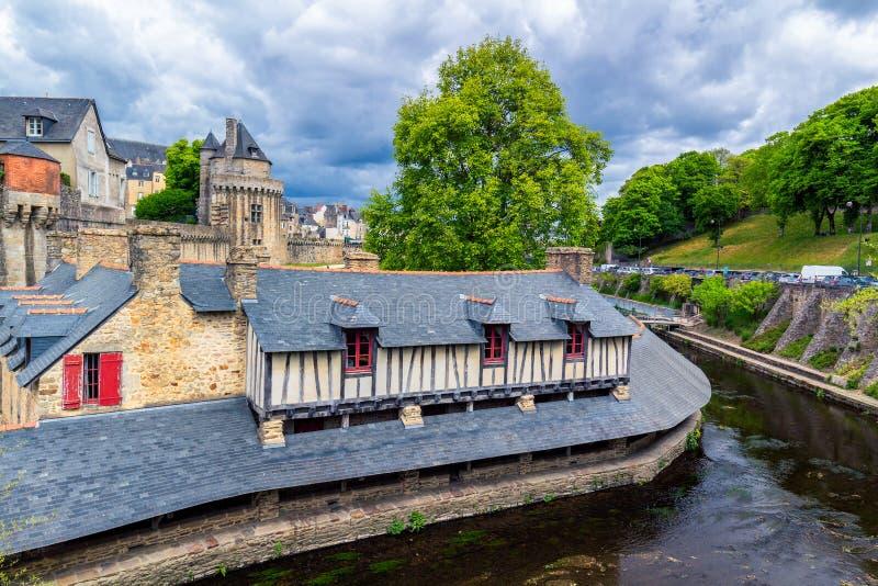 La ville historique de Vannes en Brittany Bretagne, France images stock