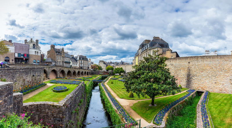 La ville historique de Vannes en Brittany Bretagne, France photographie stock libre de droits