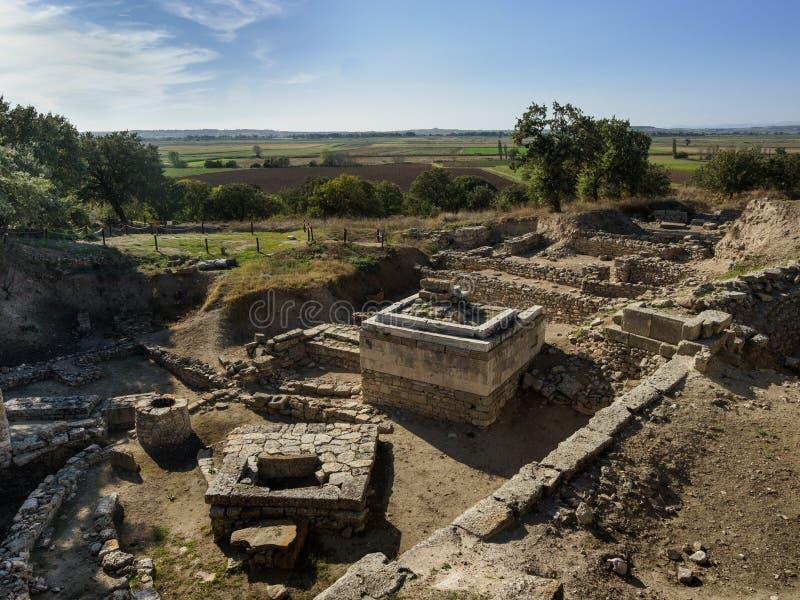 La ville légendaire antique de Troie en Turquie photos libres de droits