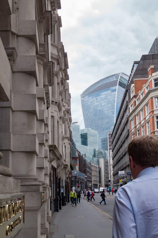 La ville, le secteur financier de Londres L'Angleterre et le Royaume-Uni Juin 2015 images stock
