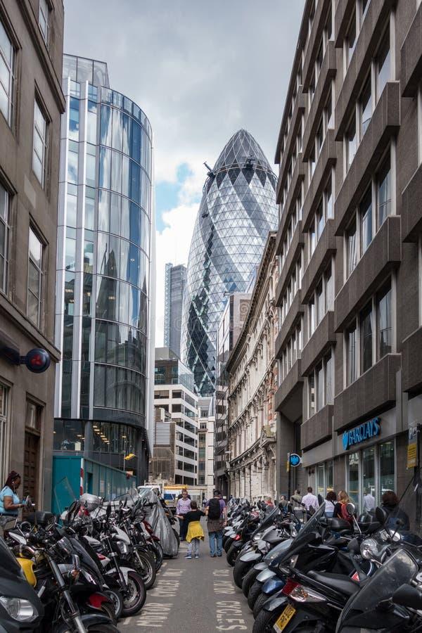 La ville, le secteur financier de Londres L'Angleterre et le Royaume-Uni Juin 2015 photo libre de droits