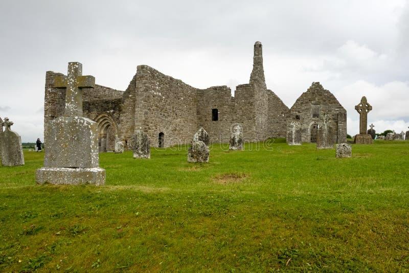 La ville monastique antique de Clonmacnoise en Irlande images libres de droits