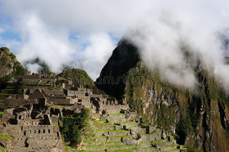 La ville mystérieuse inca de Machu Picchu de ruines au Pérou, Amérique du Sud photo libre de droits