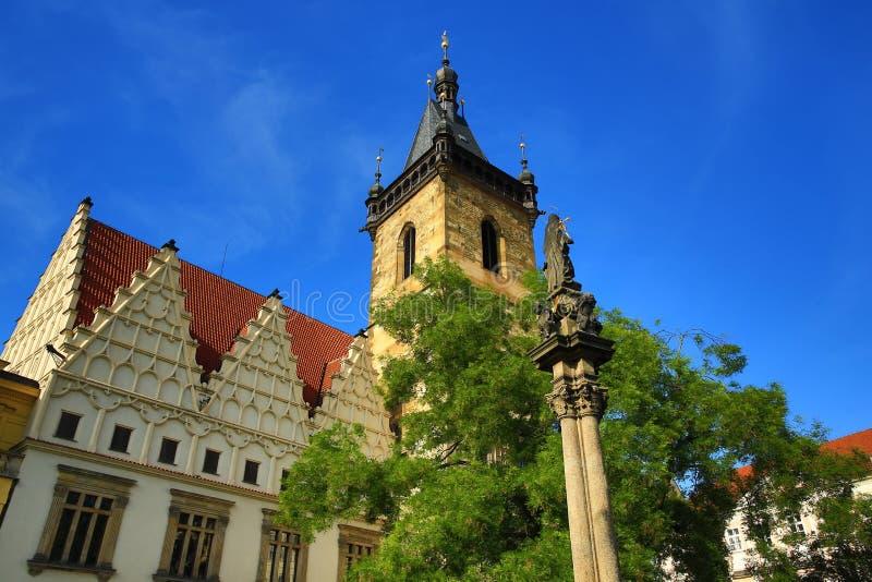 La ville nouvelle Hall (Tchèque : Le radnice de ¡ de stskà de› de NovomÄ) est le centre administratif du quart (médiéval) de la v image libre de droits