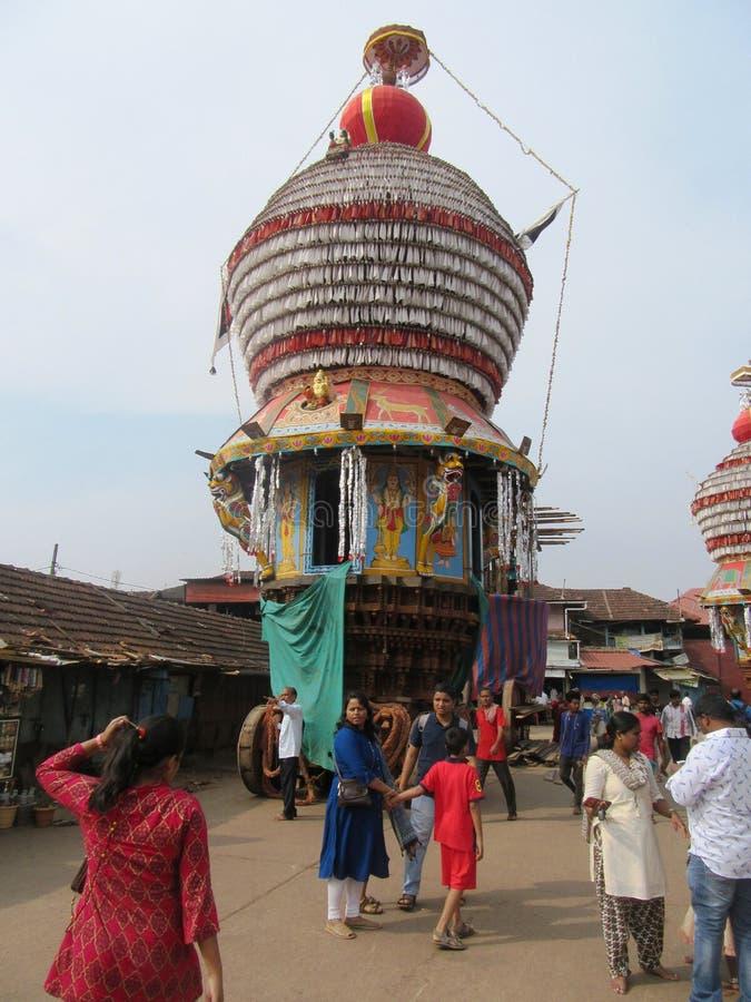 La ville sacrée Udupi de temple images libres de droits