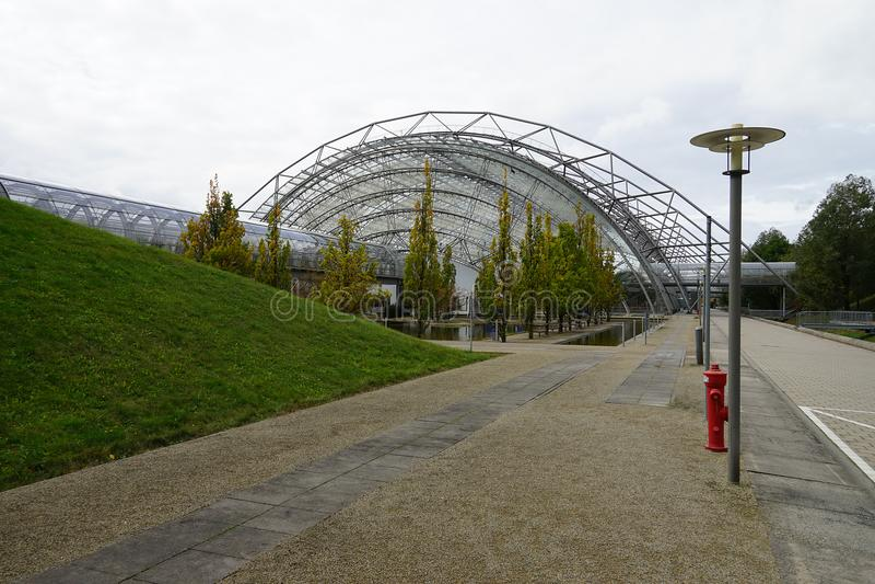 La ville Stadt Leipzig Allemagne Deutschland de Messe de foire commerciale photo stock