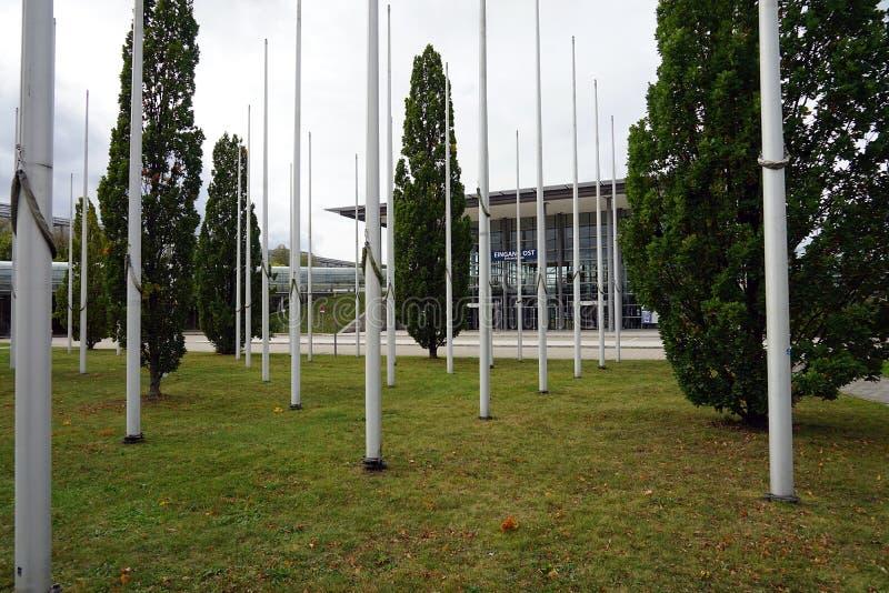 La ville Stadt Leipzig Allemagne Deutschland de Messe de foire commerciale images libres de droits