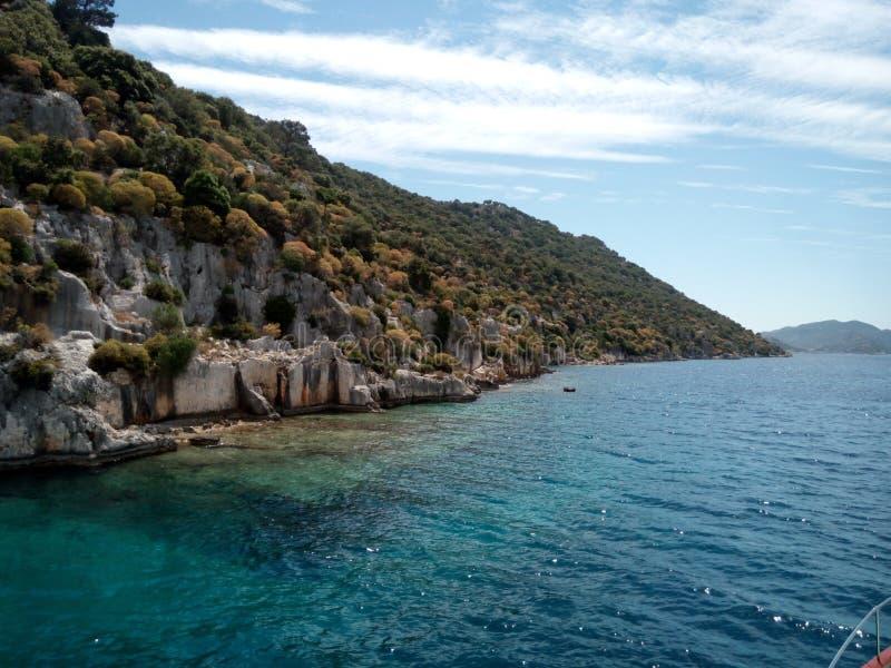 La ville submergée de Kekova Turquie, Antalya, cap de Demre photo libre de droits