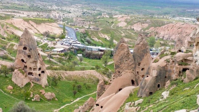La ville UCHISAR, Cappadocia, Turquie image stock