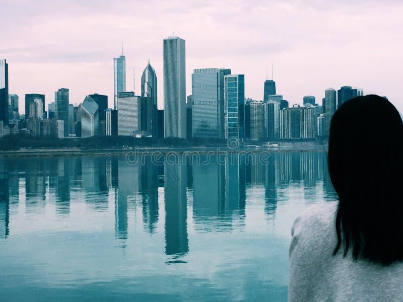 La ville venteuse image stock