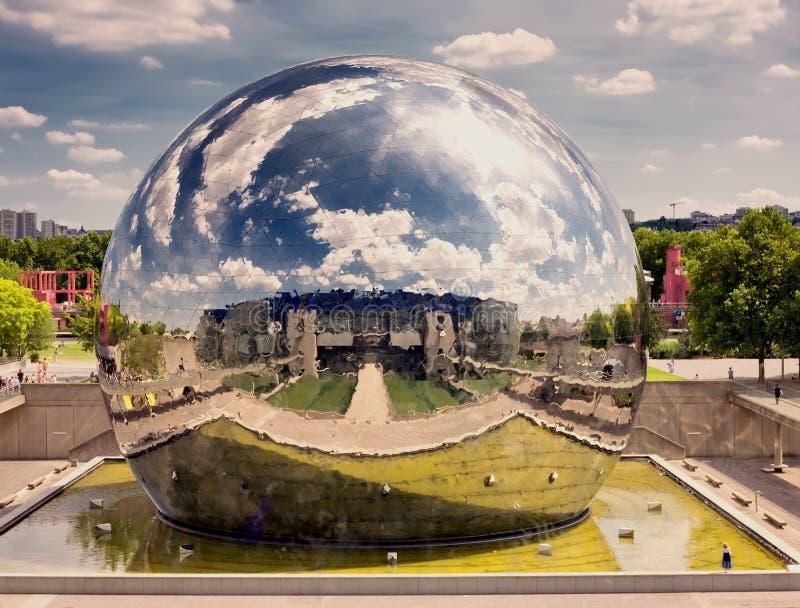 La Villette Parigi fotografia stock libera da diritti
