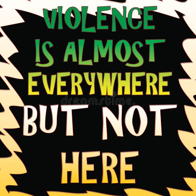 La violencia es everwhere libre illustration