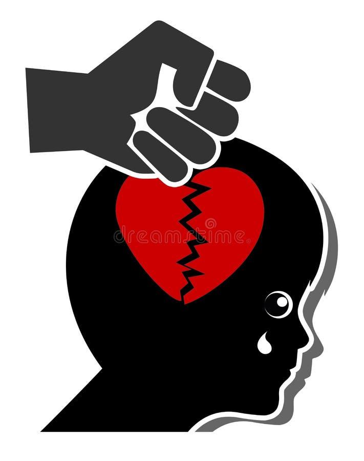 La violencia mata a amor stock de ilustración