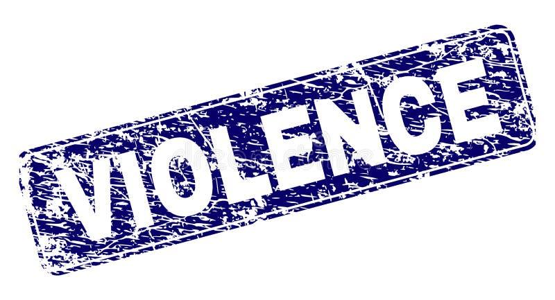 La VIOLENCIA rasguñada enmarcó el sello redondeado del rectángulo libre illustration