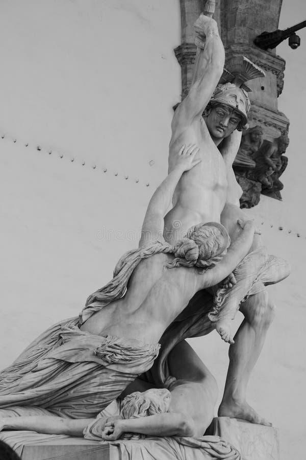La violenza di Polyxena - B/W immagini stock libere da diritti