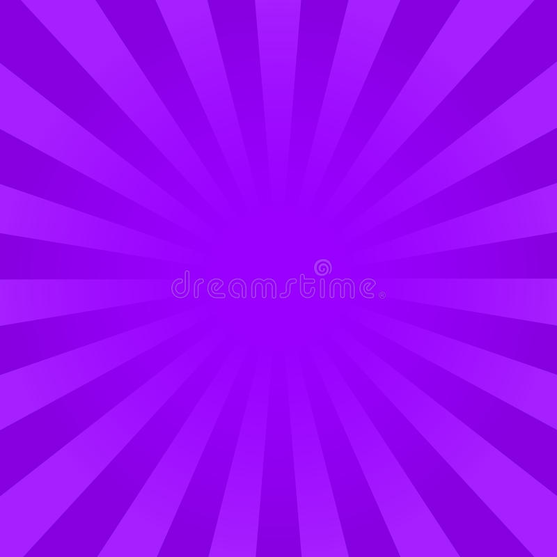 La violeta brillante irradia el fondo ilustración del vector