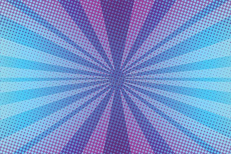 La violeta irradia el fondo del arte pop stock de ilustración